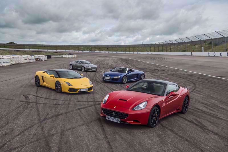 Silver Four Car Drive Supercar Driving Experience Package